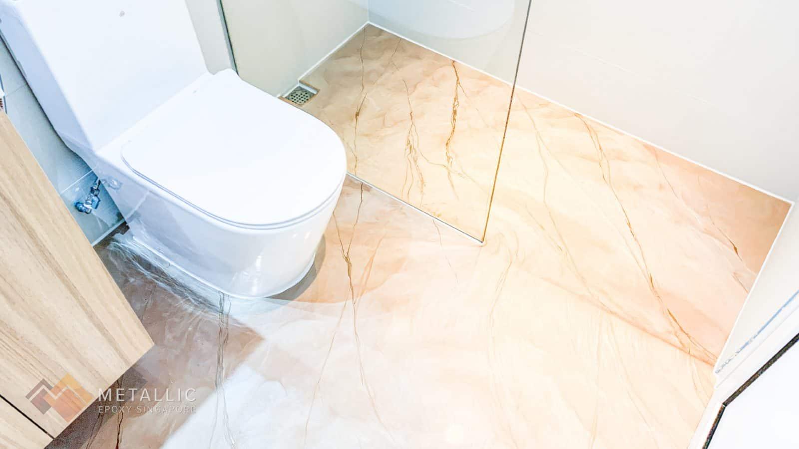 Rose Gold Bathroom Flooring