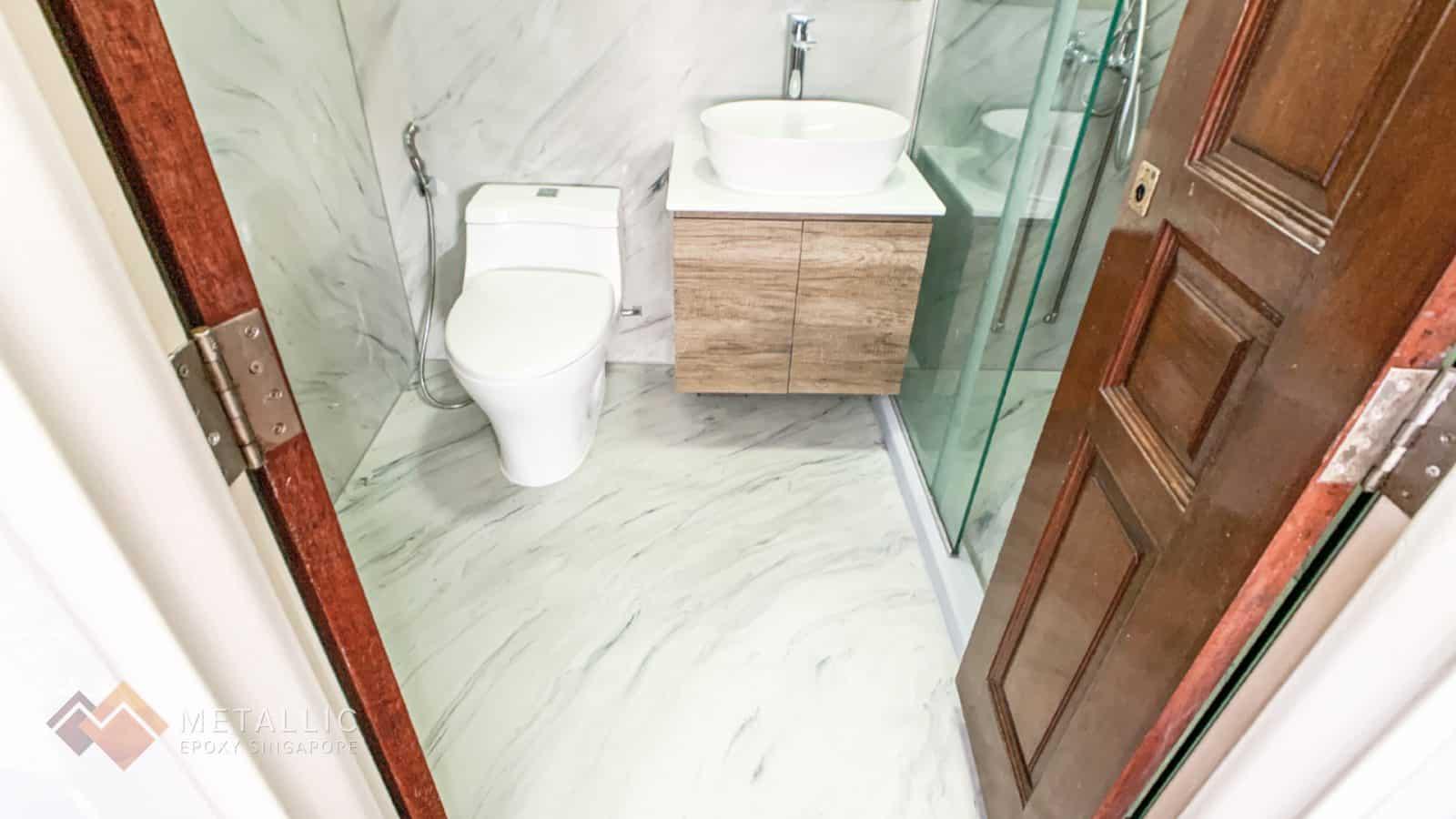 Cool Grey Marble Bathroom
