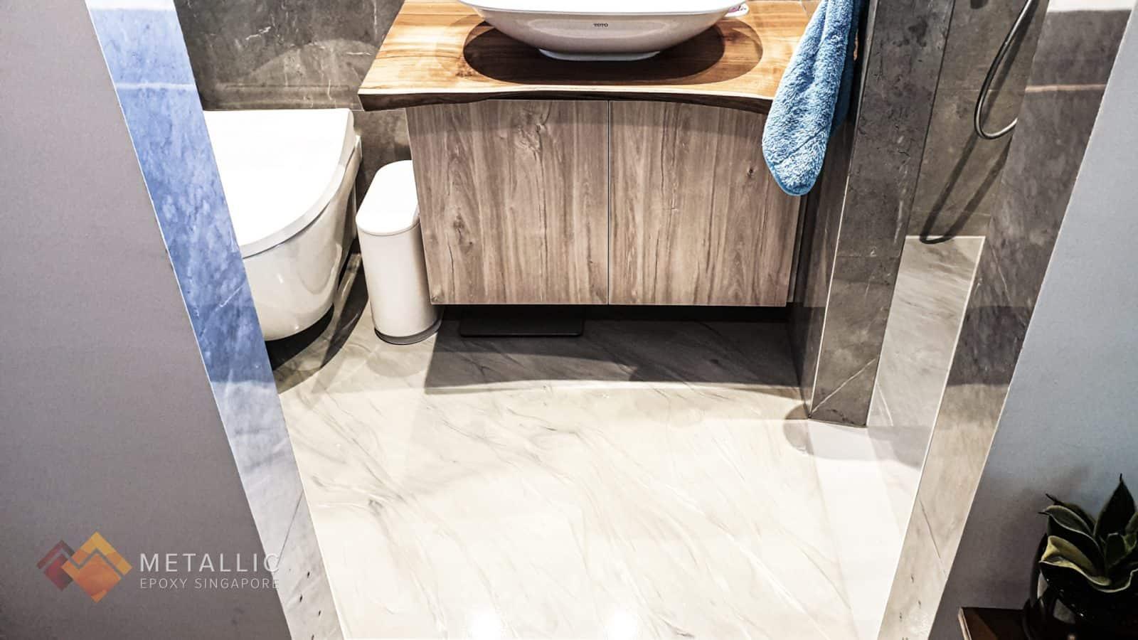Ash Silver Bathroom Flooring