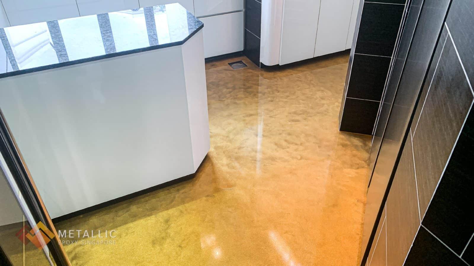 Sunshine Gold Glitter Flooring