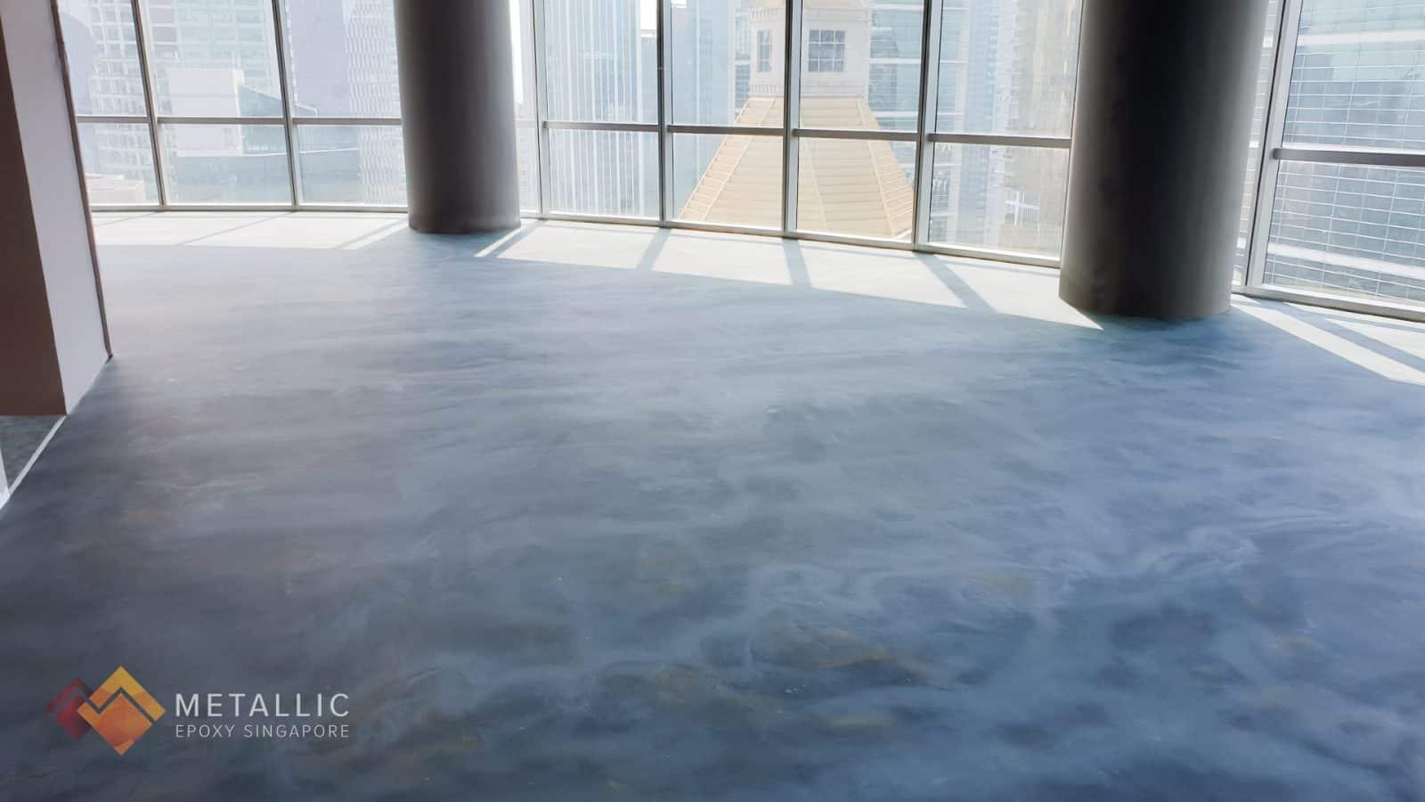 Sky Blue Swirl Flooring