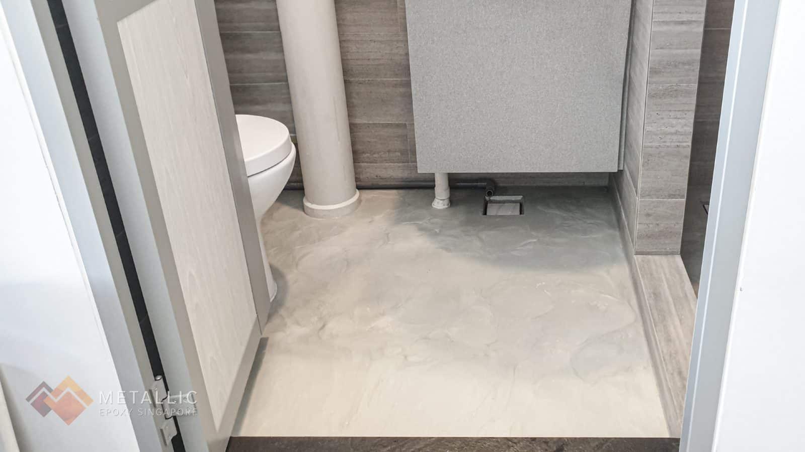 Light Industrial Bathroom Flooring