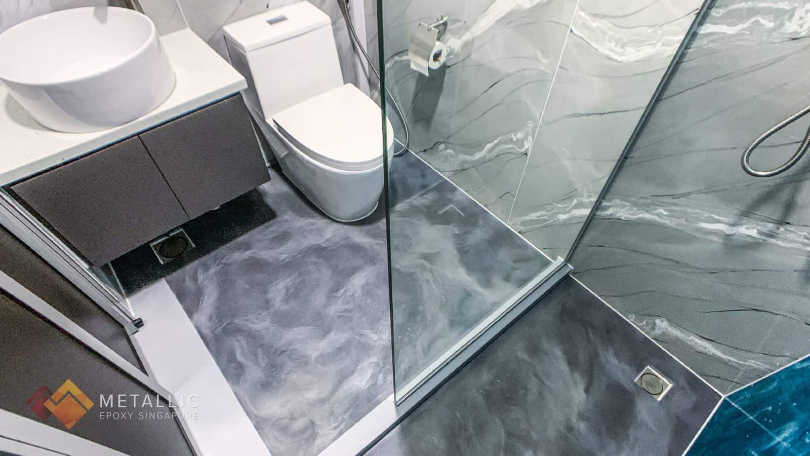 Metallic Epoxy Bathroom