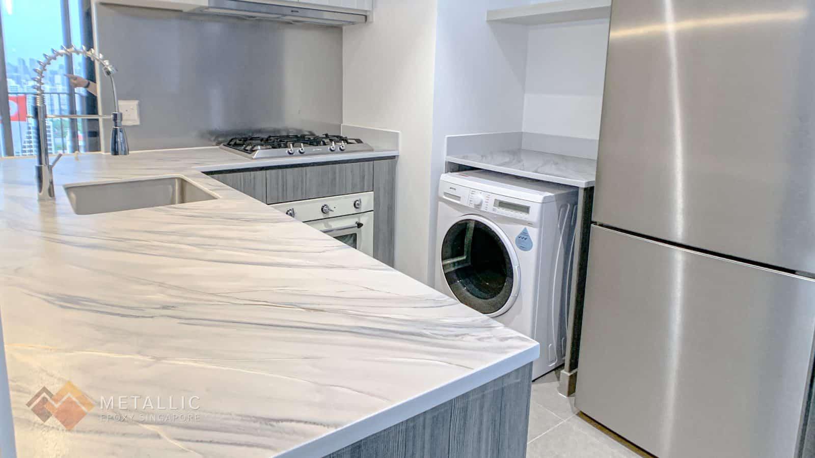 Scandinavian White Marble Countertop