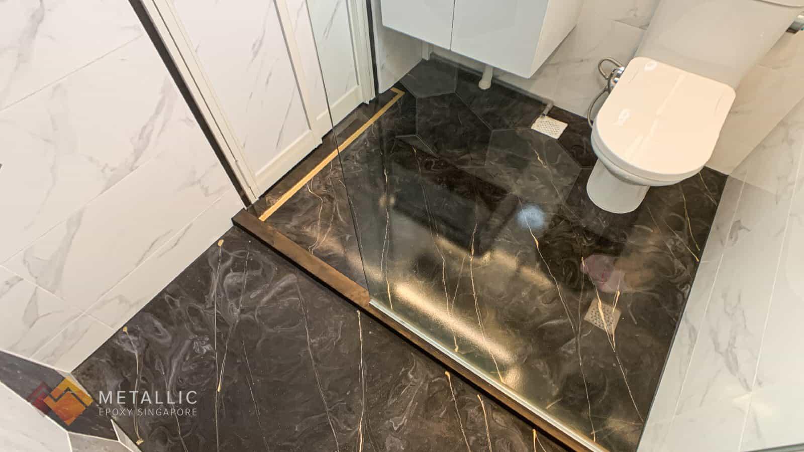 Granite Mosaic Bathroom Flooring