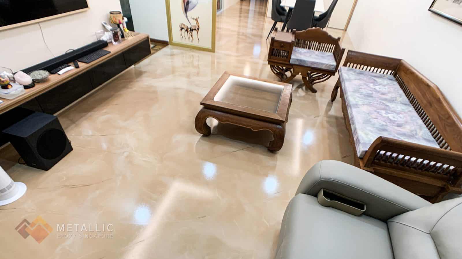 Rose Gold Marble Flooring