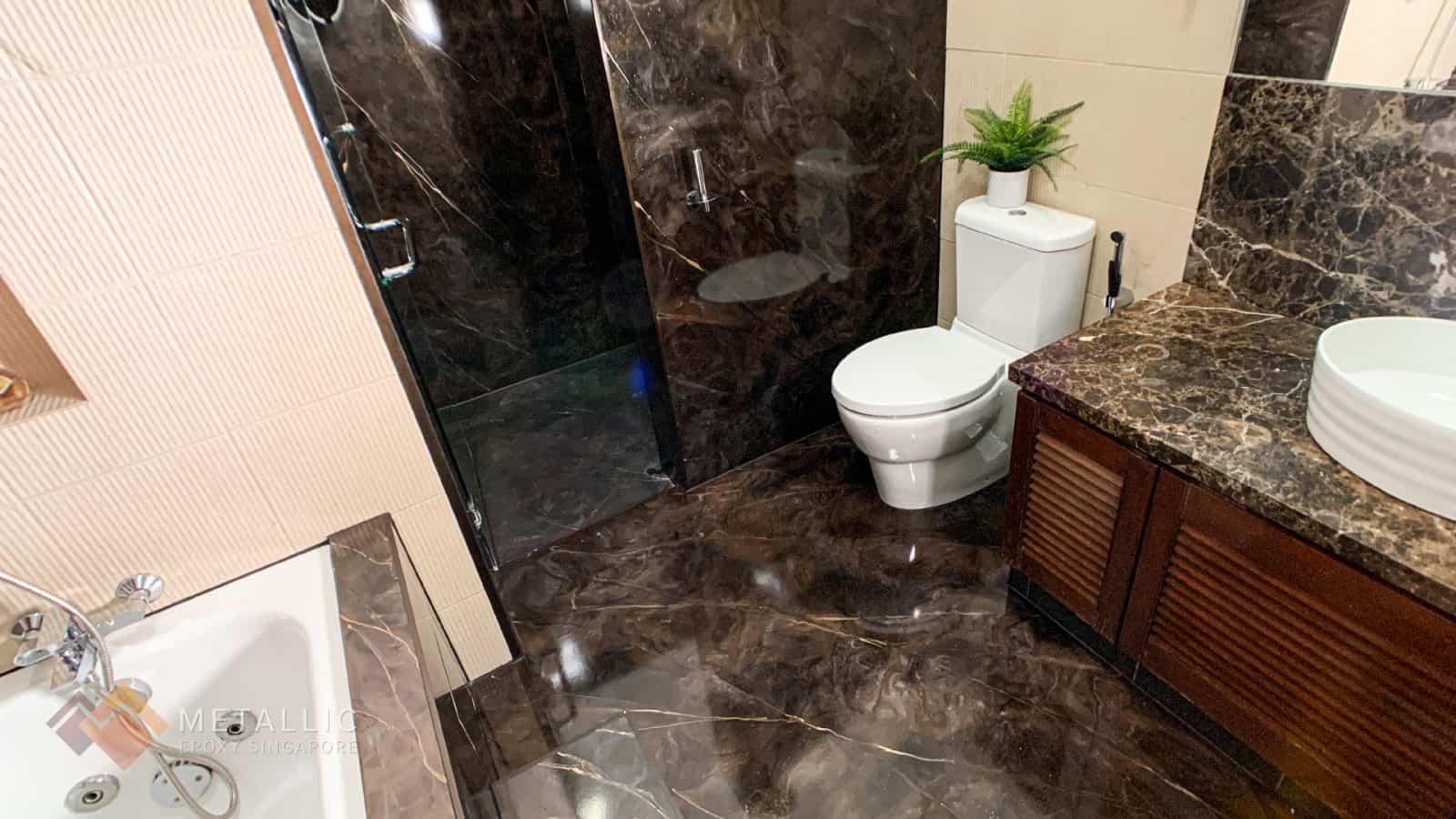 Gold Mocha Mosaic Bathroom