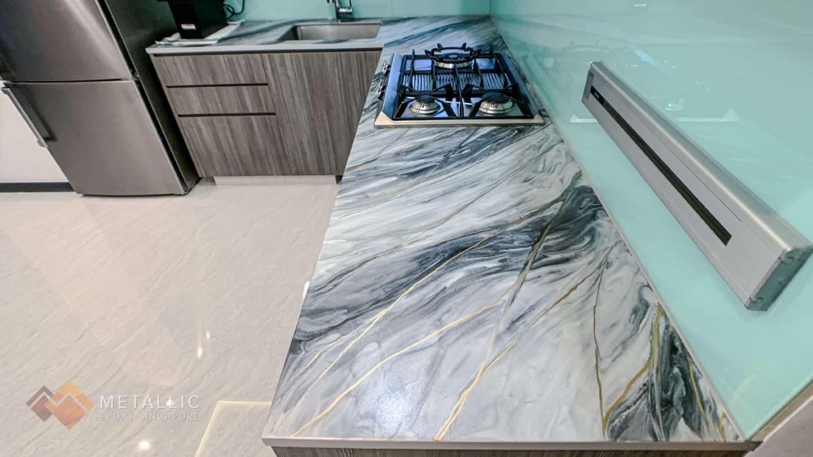 Black Grey Marble Countertop
