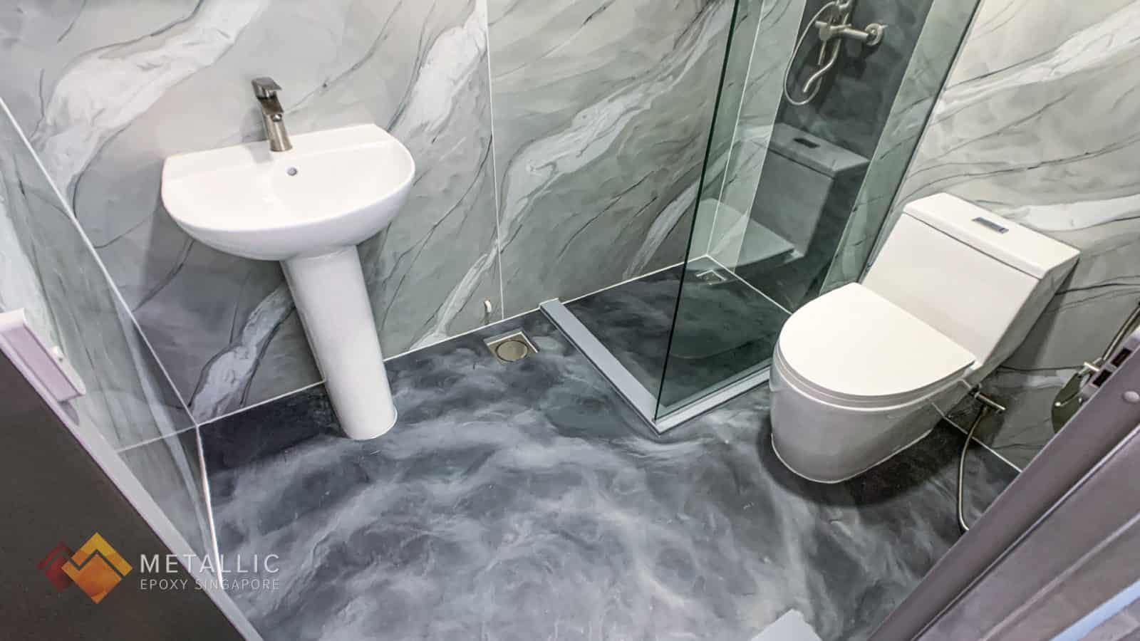 Concrete Marble Bathroom Flooring