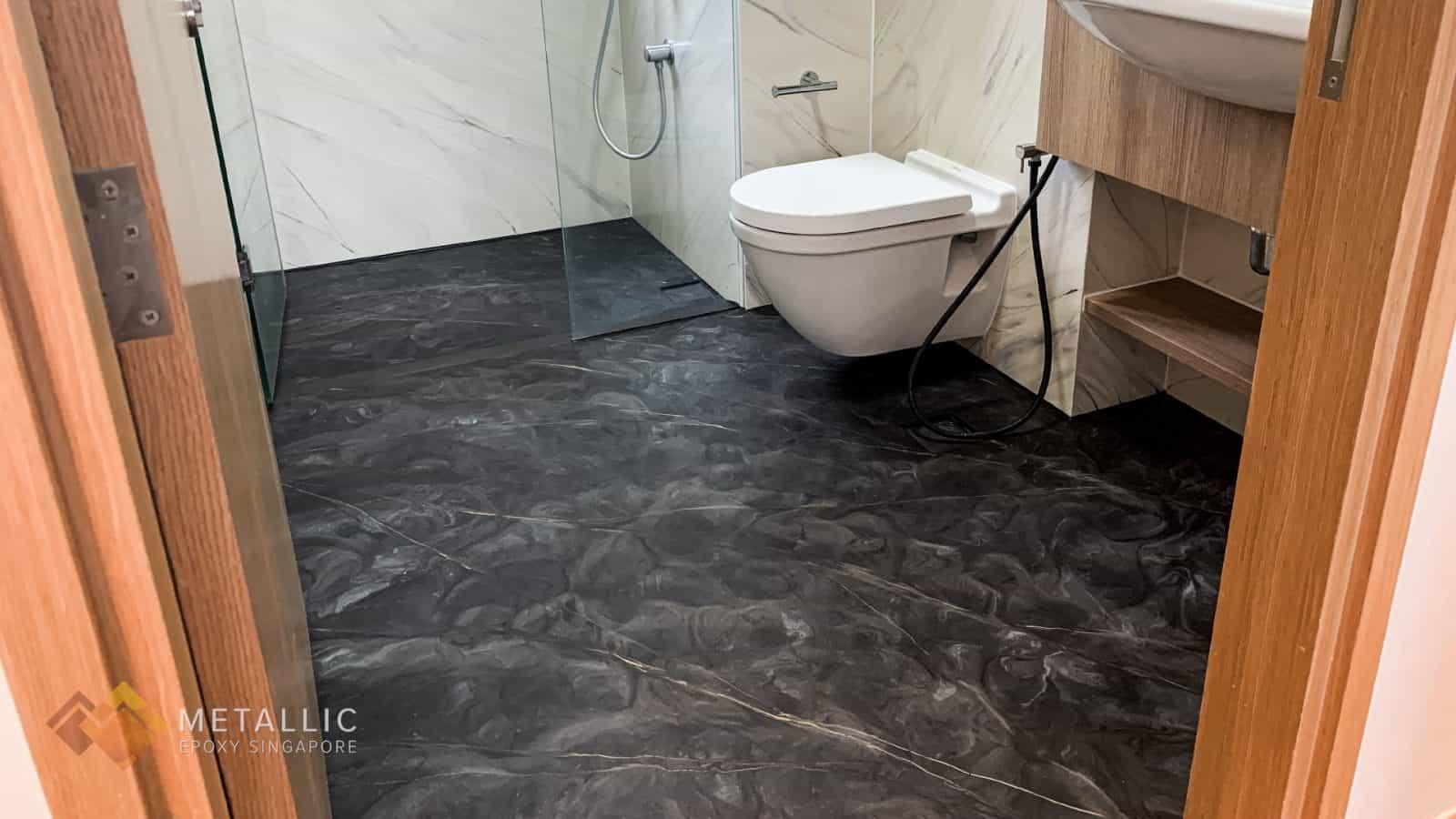 Stone Dark Bathroom Flooring