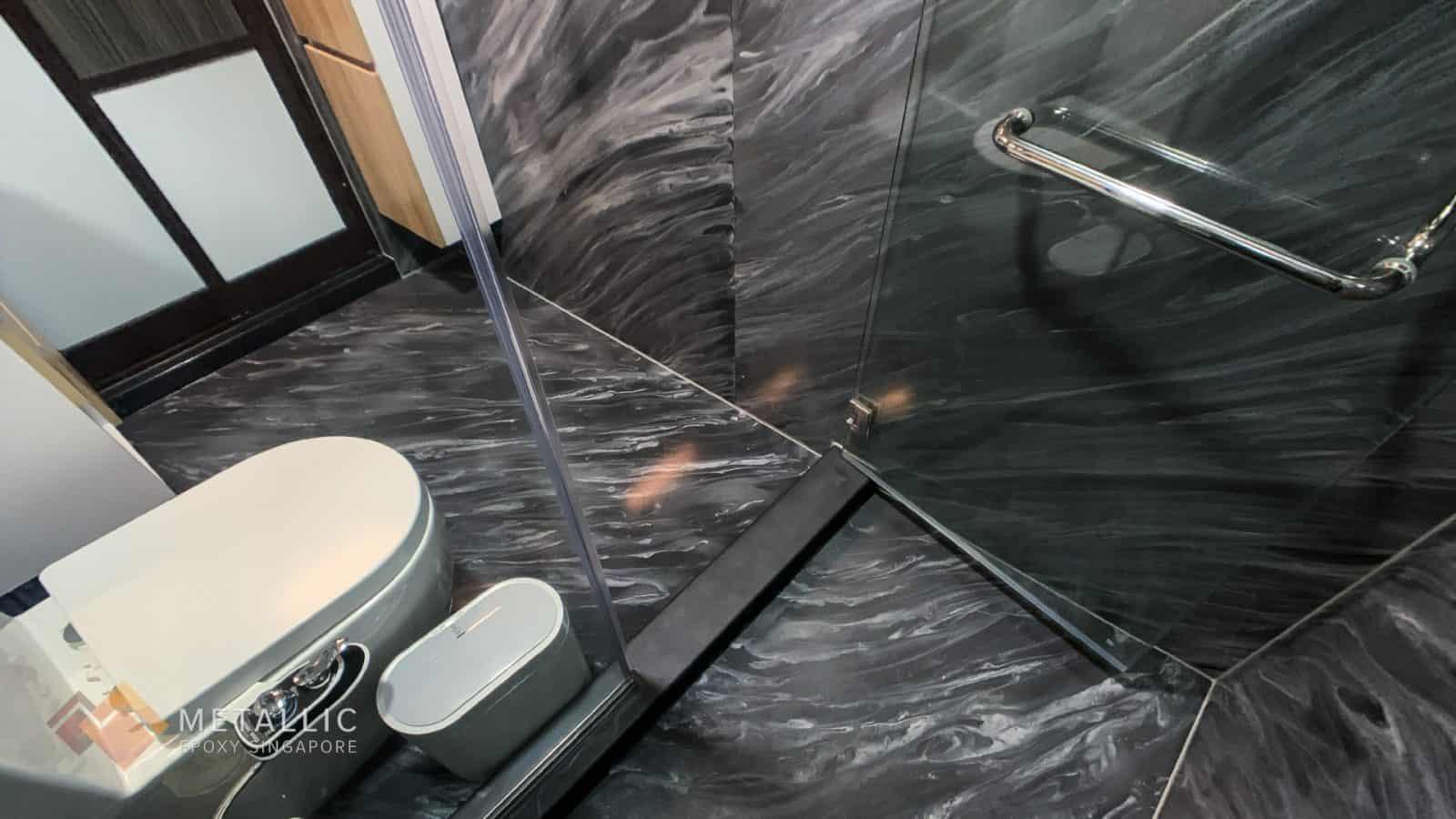 Titanium White Marble Bathroom