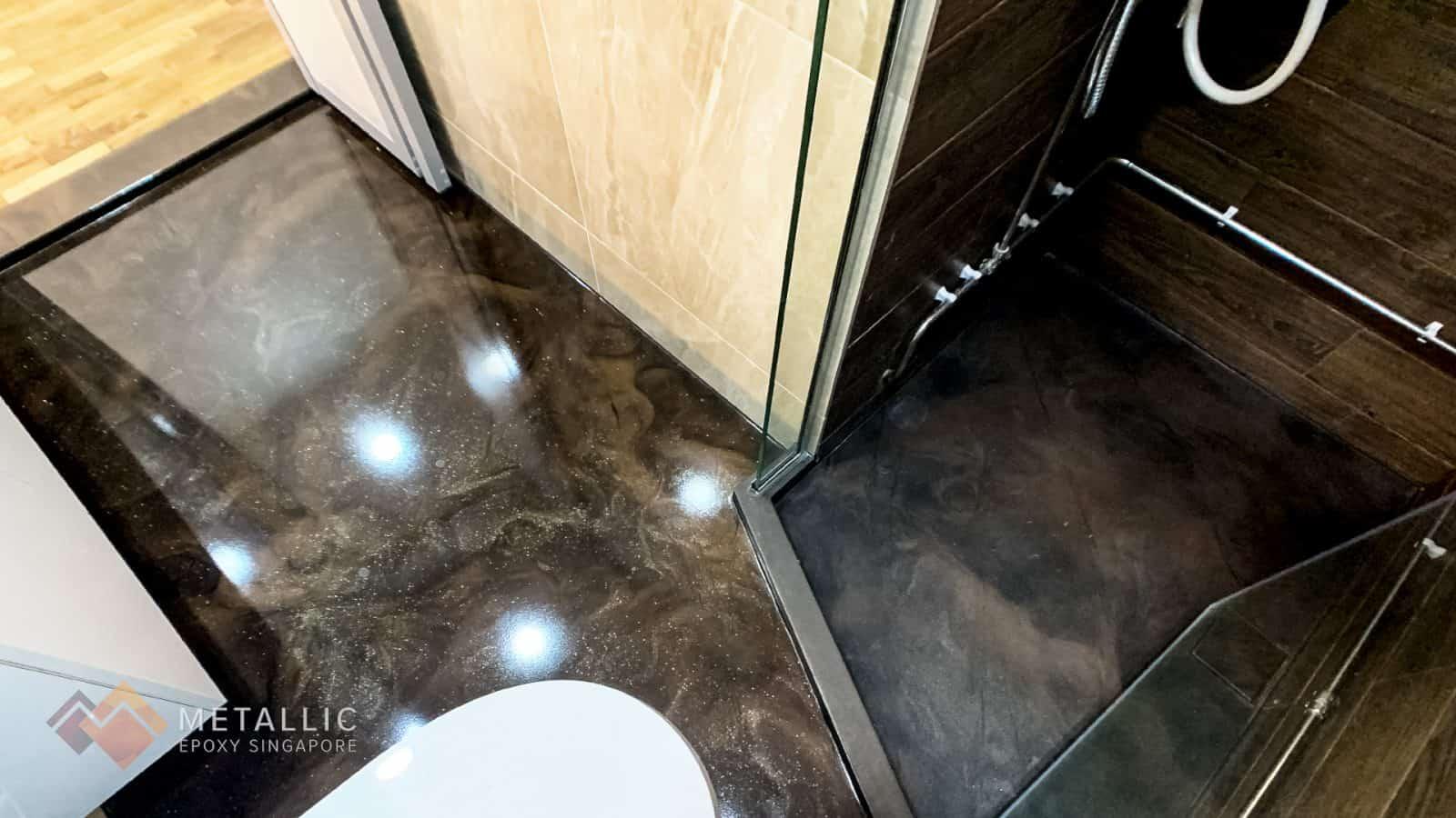 Sparkling Gold Coffee Floor