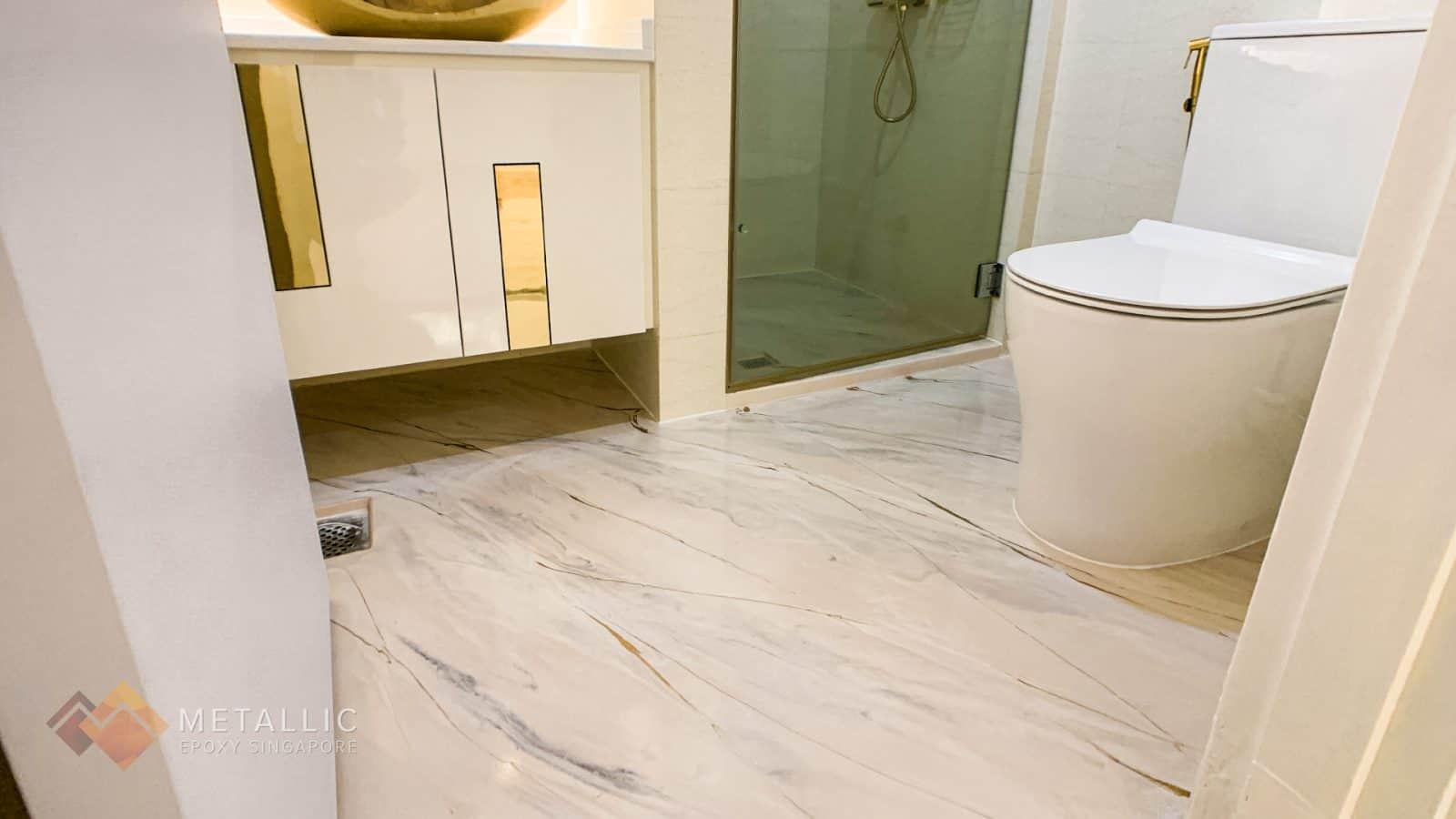 Coffee Highlights Bathroom Flooring