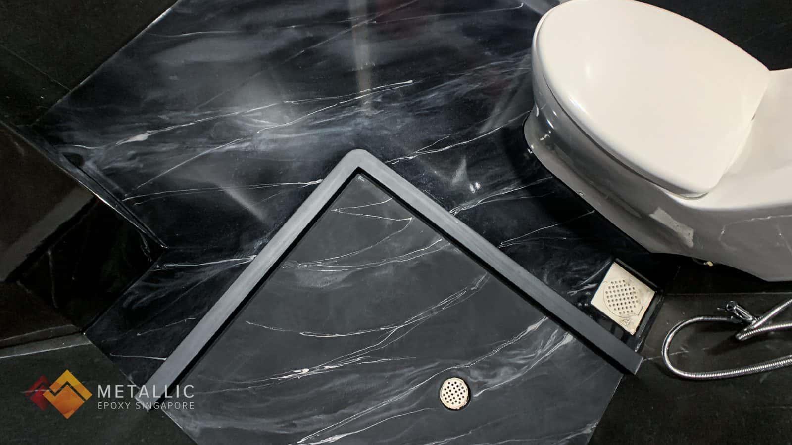 Metallic Epoxy Bathroom Floor