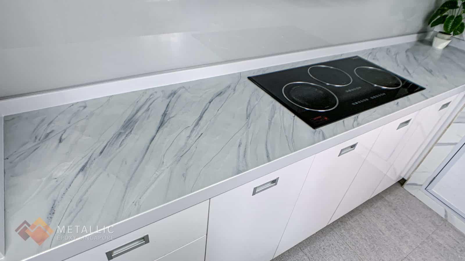 Light Grey Marble Countertop