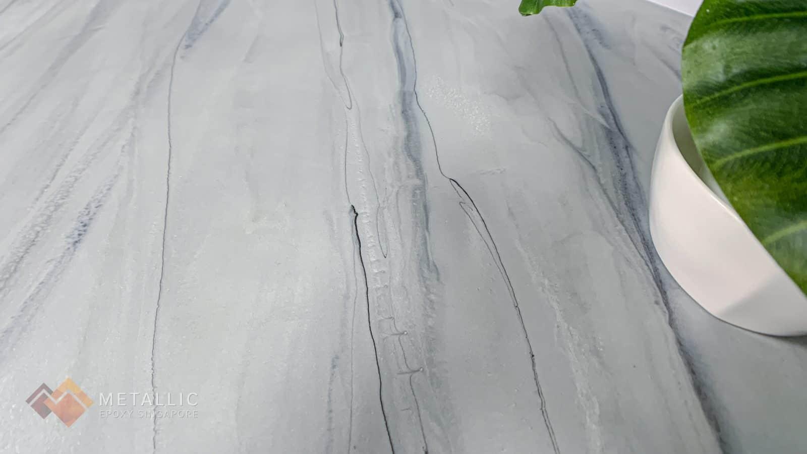 Light Grey Marble Metallic Epoxy Countertop
