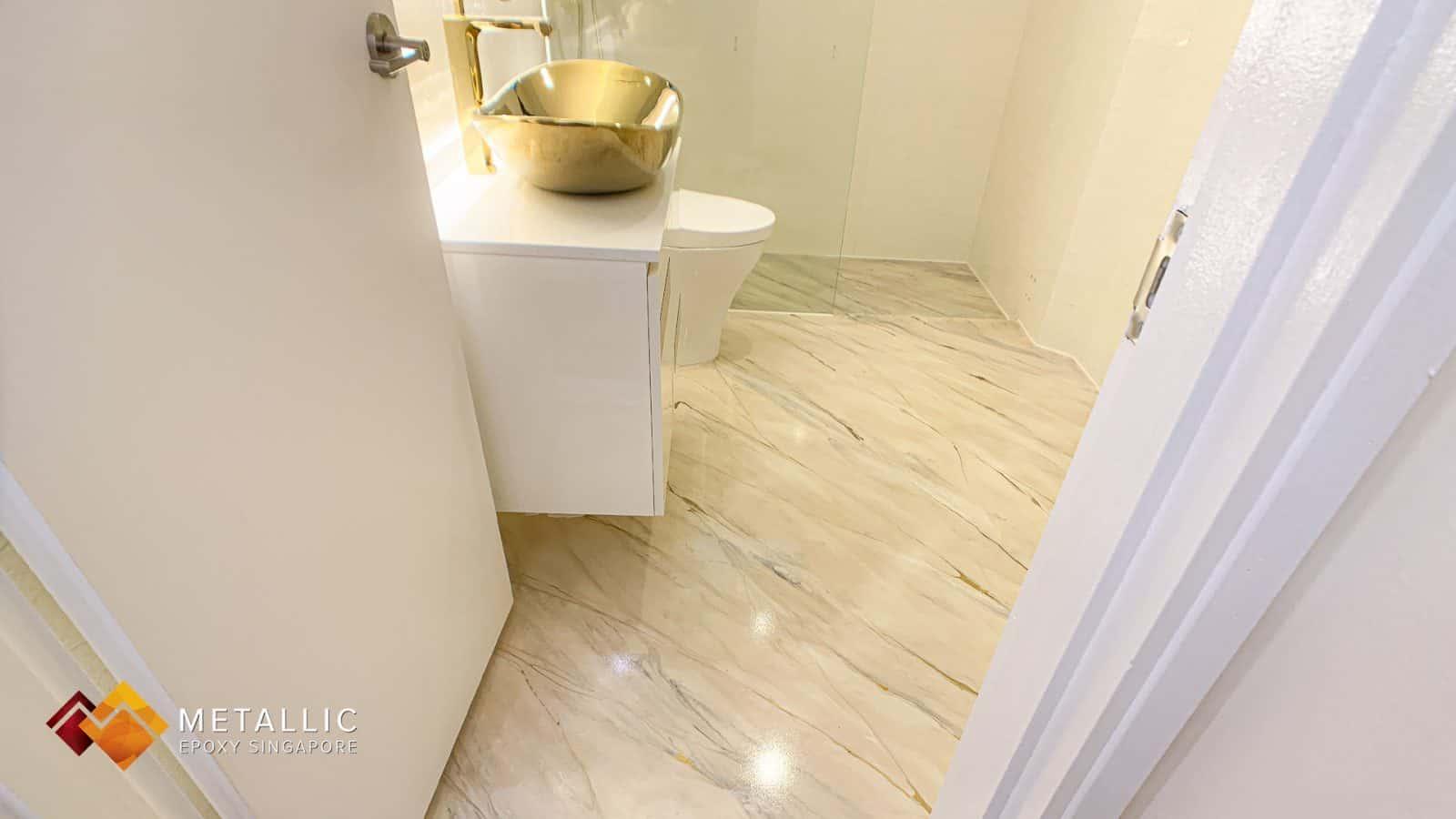 Beige Marble Bathroom Flooring