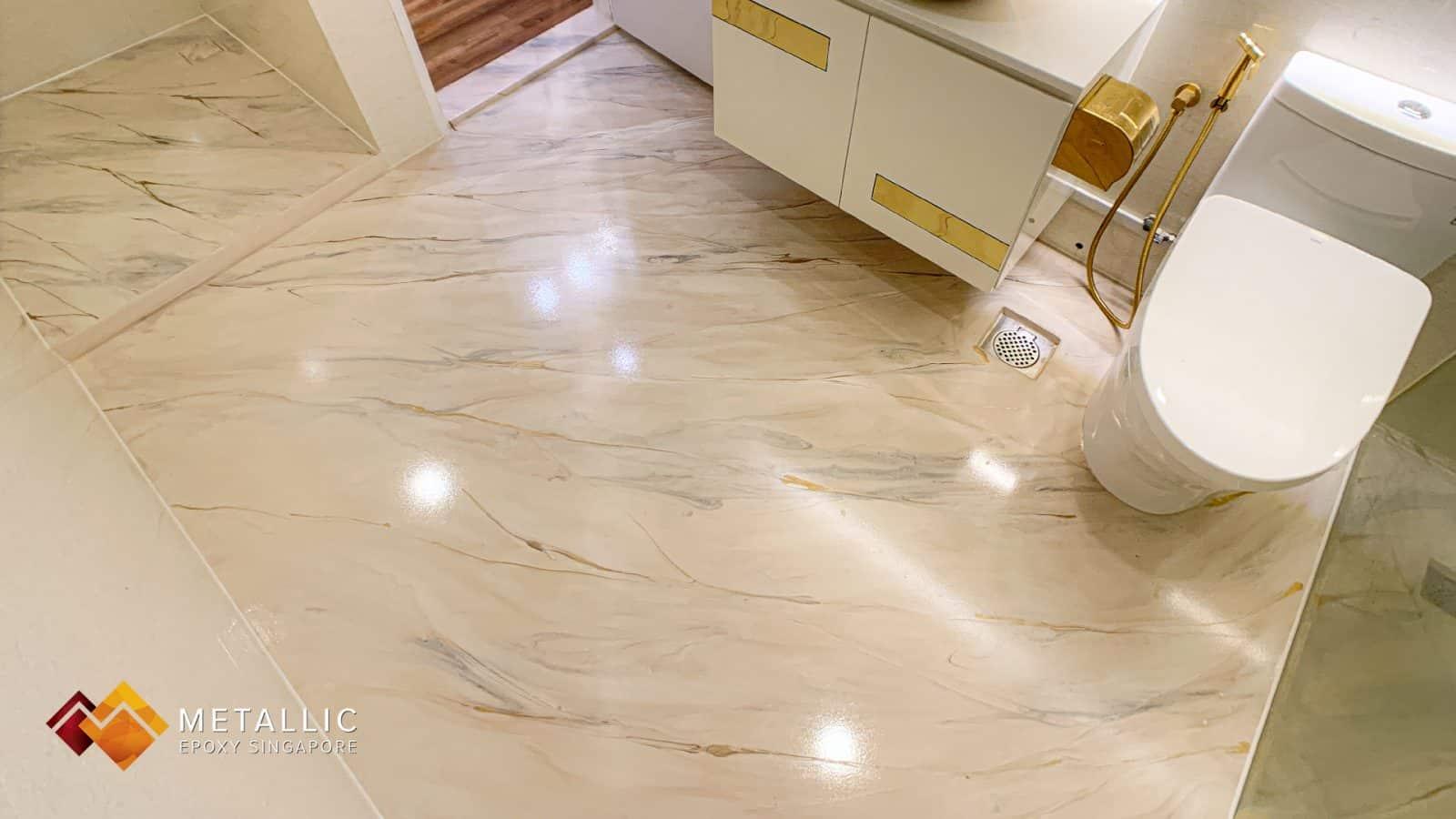 Natural Beige Marble Bathroom
