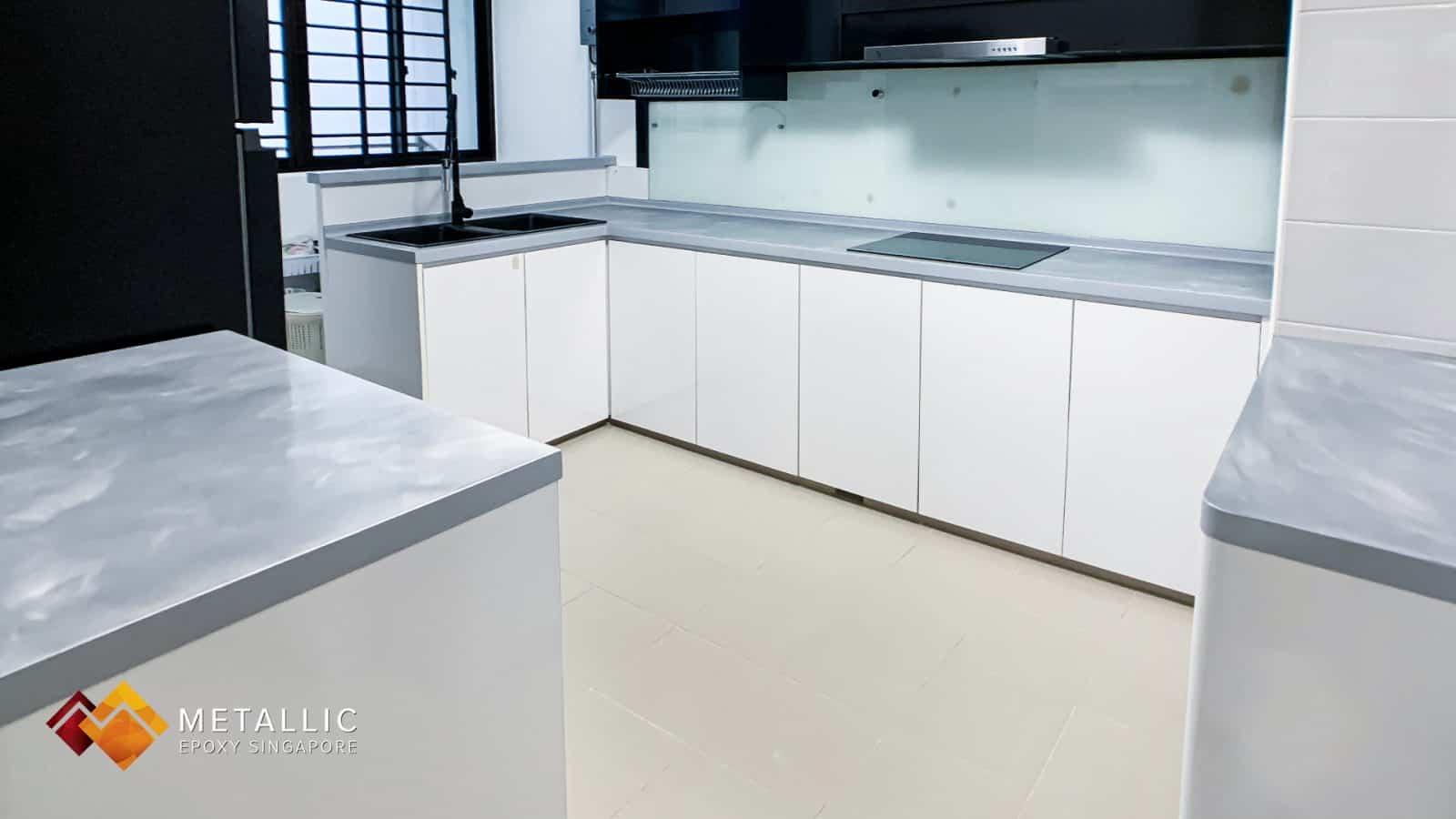 Silver Grey Swirl Countertop
