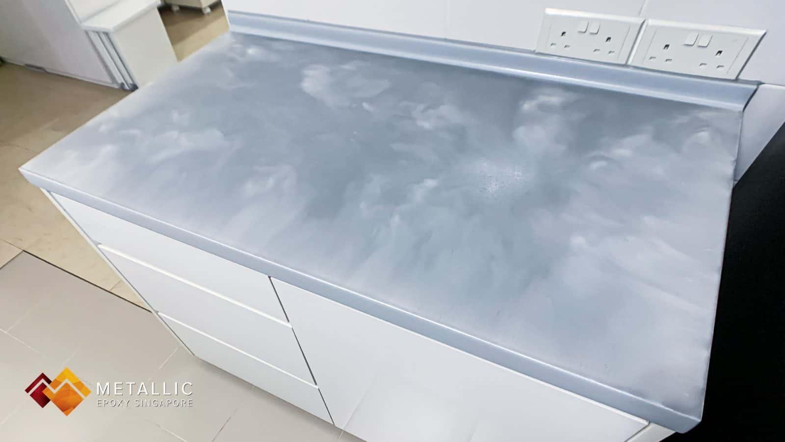 Light Grey Cloud Countertop
