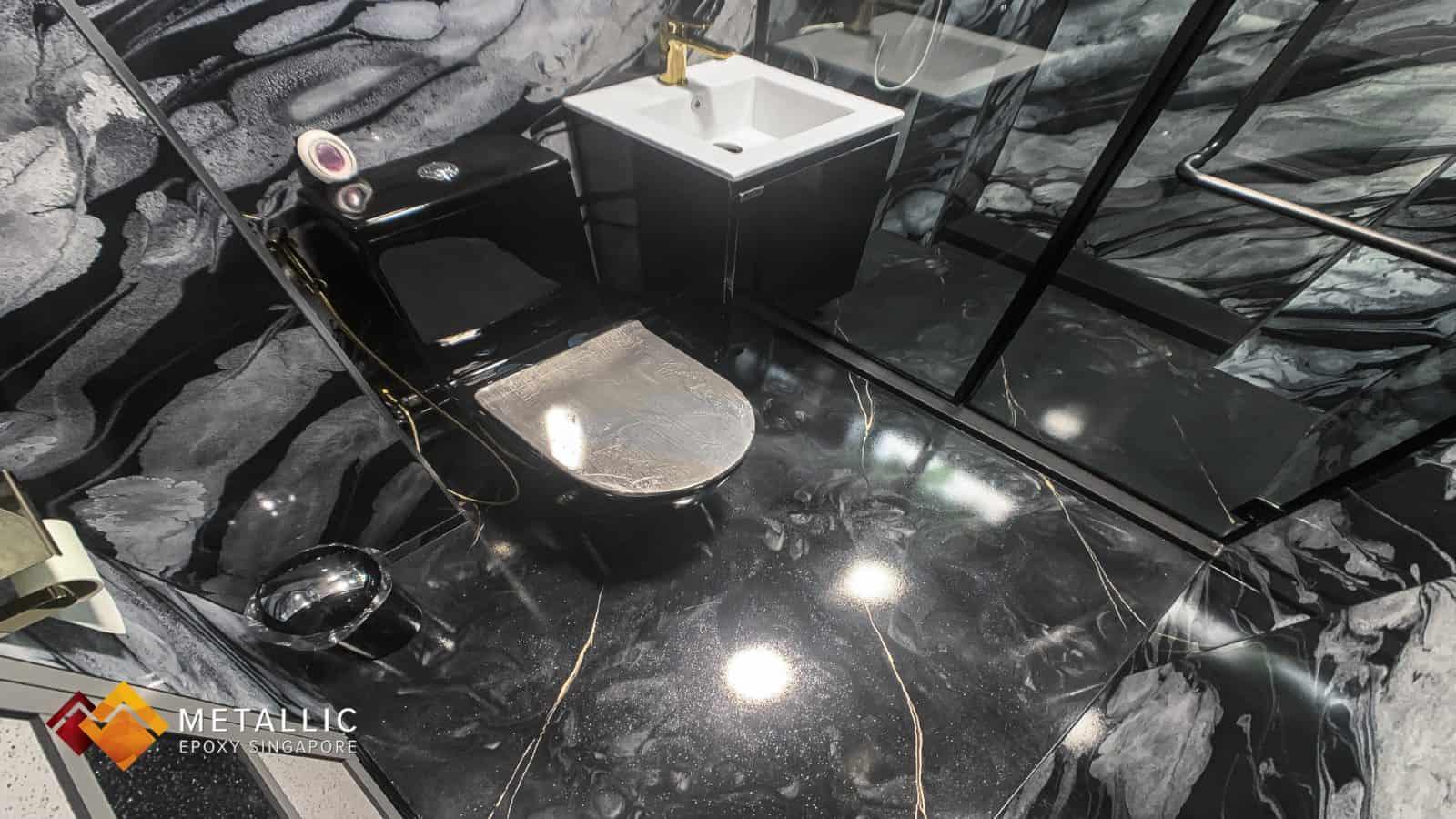 Black Dirty Pour Bathroom