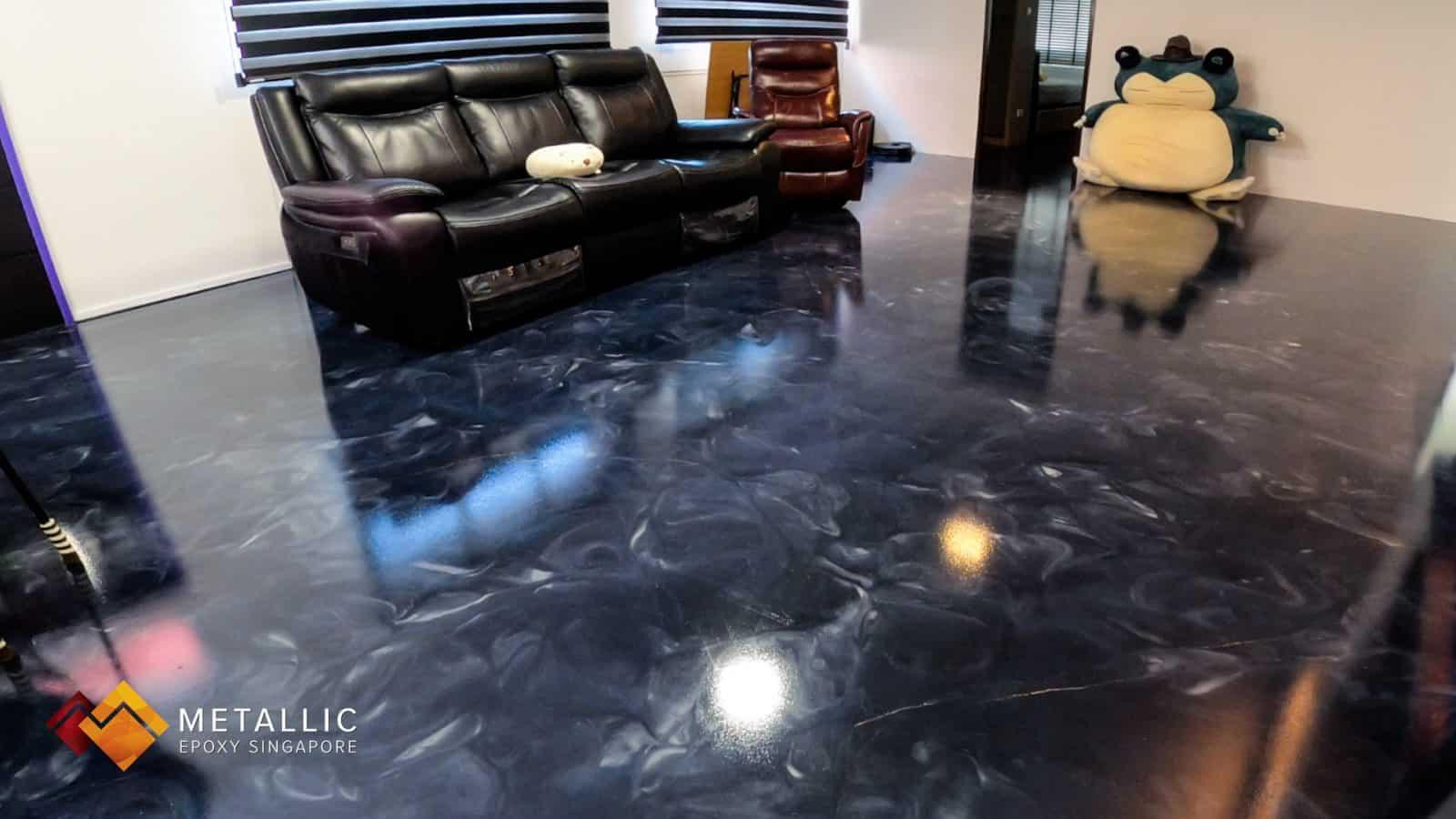 Blue Galaxy Living Room Flooring