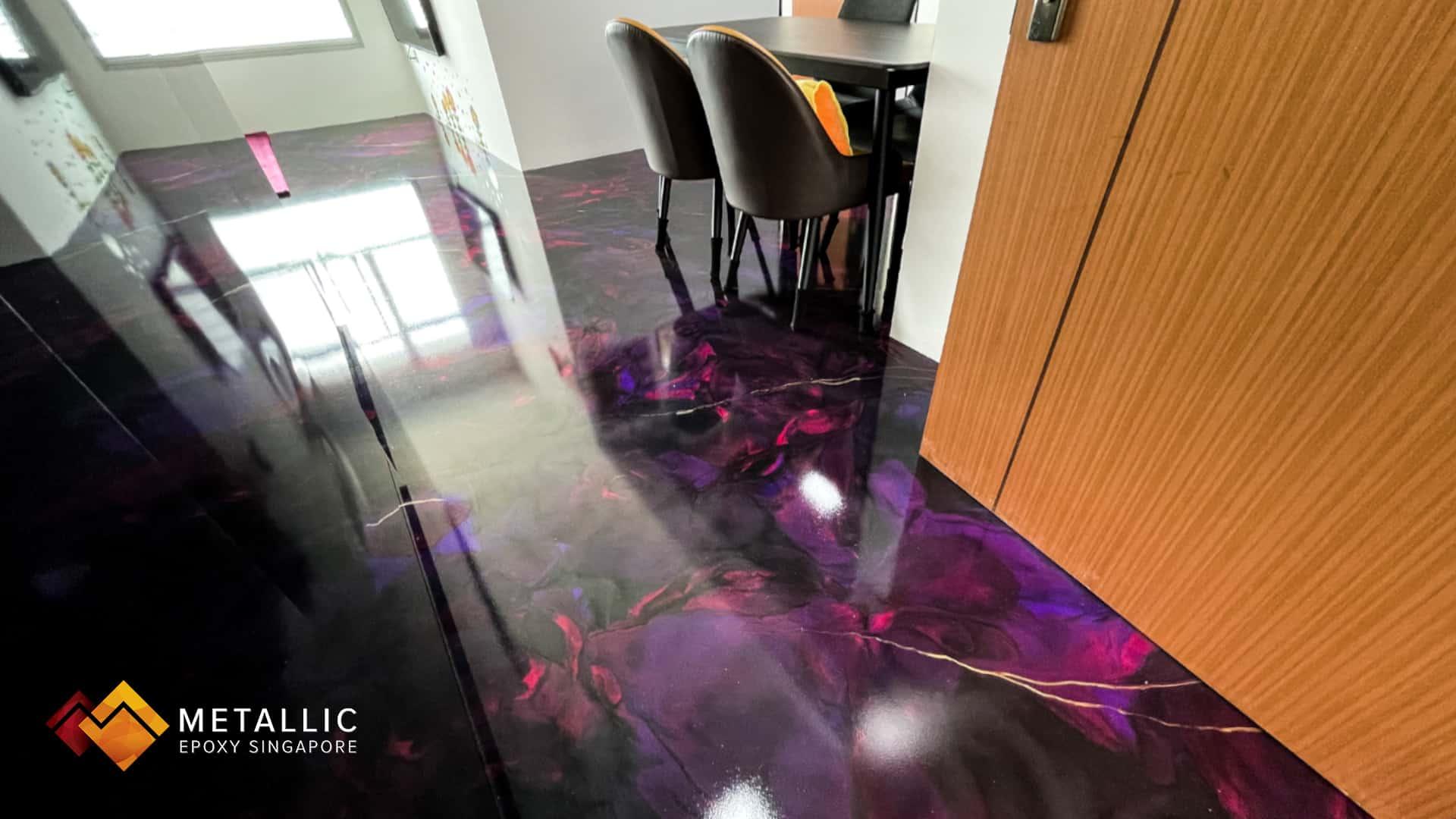 Pink Black Galaxy Flooring