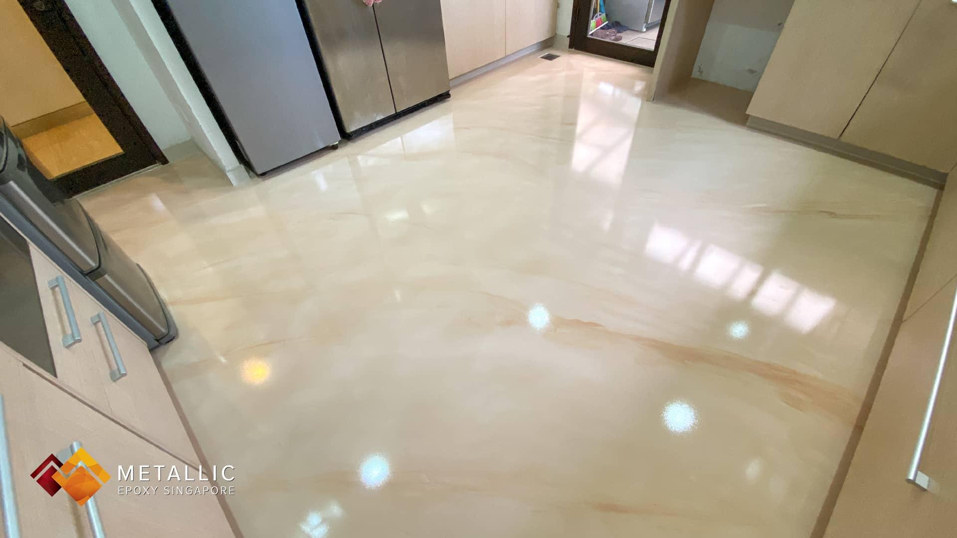 Light Beige Orange Flooring Kitchn
