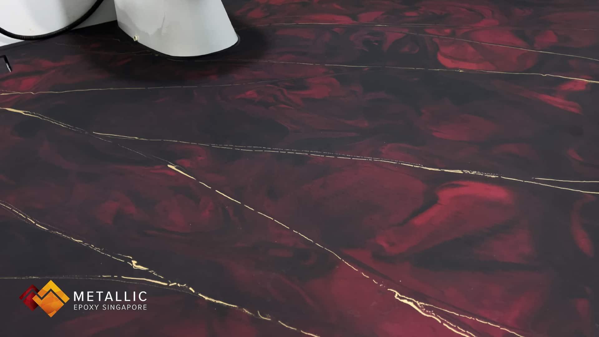 Black Pink Gold Flooring